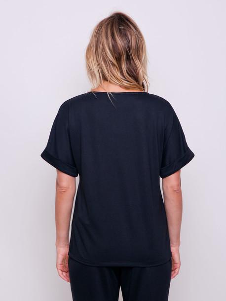 Глория PETITE футболка укороченная оникс