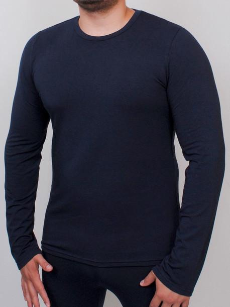 LS termo футболки длинный рукав т.синий