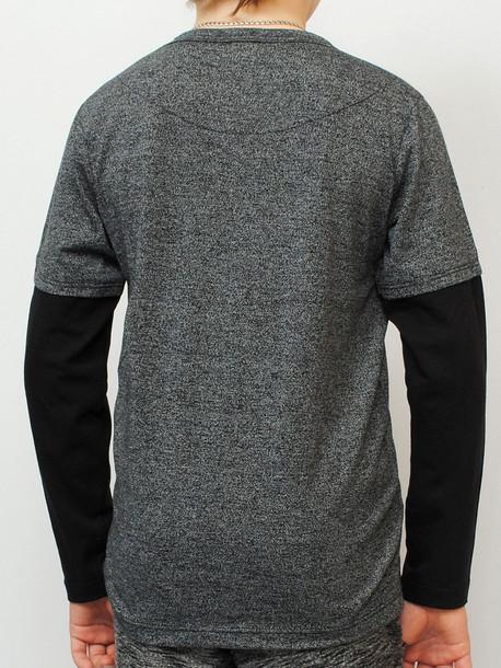 INDIAN Junior футболка длинный рукав черный