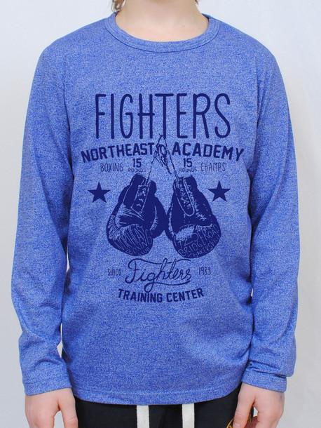 FIGHTERS Junior футболка длинный рукав электрик