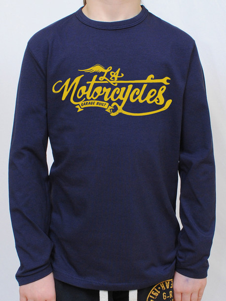MOTORCYCLY Junior футболка длинный рукав т.синий