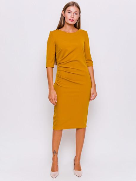 Лэджэр платье горчица