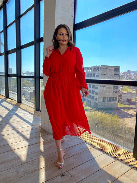 Шерил платье алый