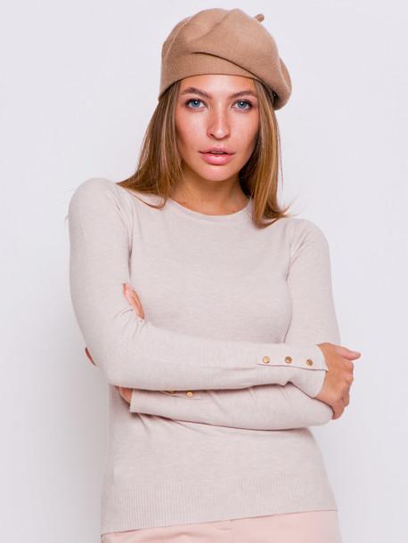 Брит пуловер ваниль