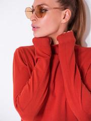 Ари свитер красно-коричневый