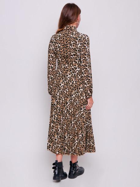 Альма платье леопард корица