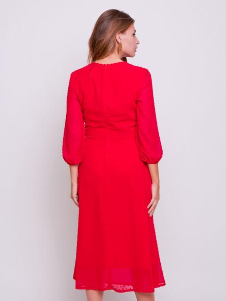 Айвори платье алый