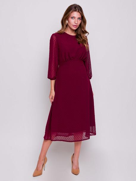 Айвори платье бургунди
