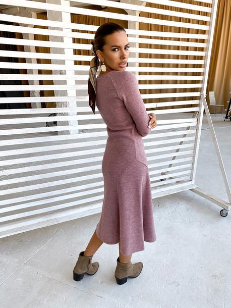 Саджи платье визон