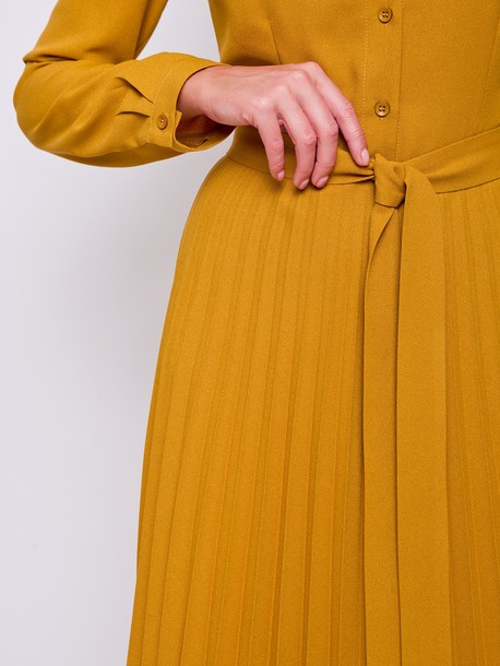 Альма платье однотон горчица