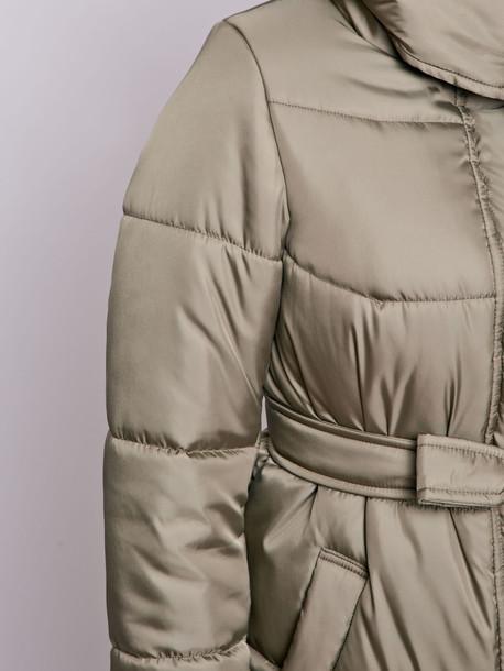 Пелома удлиненная куртка оливка
