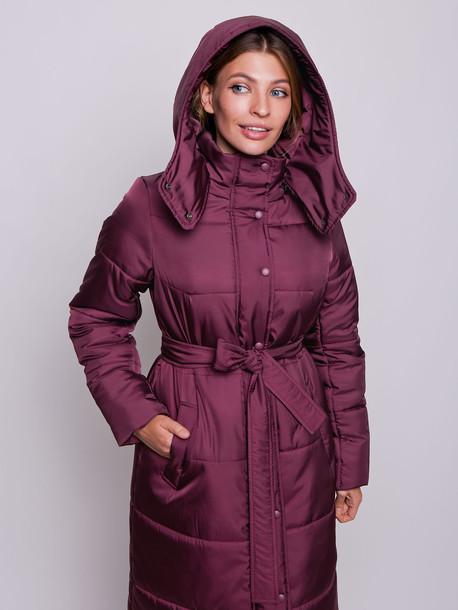 Пелома удлиненная куртка рубин