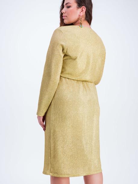 Этери платье золотой металлик