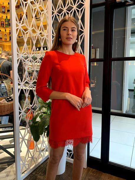 Натиа платье кармин
