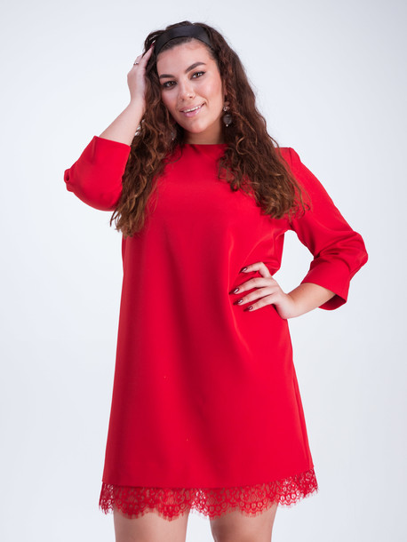 Мариам платье кармин
