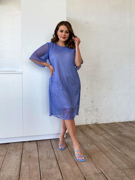 Элисо платье голубой