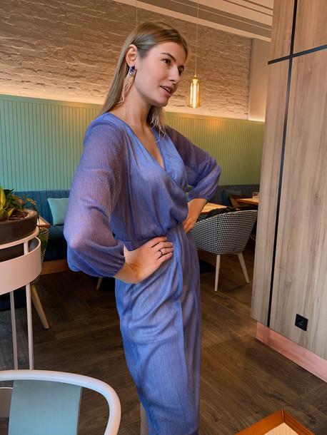 Диния платье голубой
