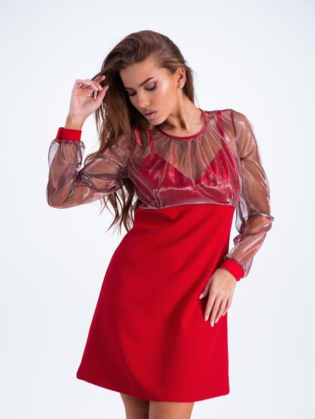 Тамина платье кармин