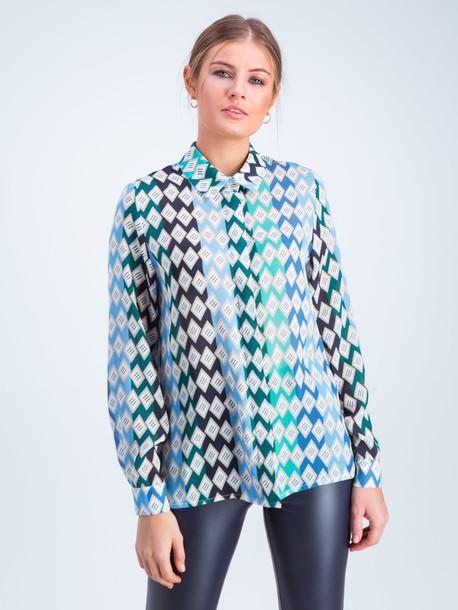 Винди блуза голубой