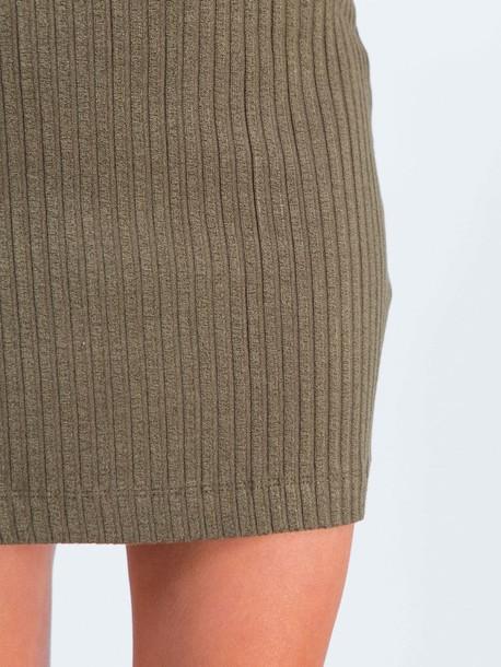 Китана юбка хаки