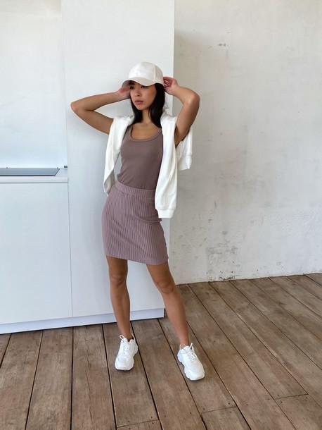 Китана юбка латте