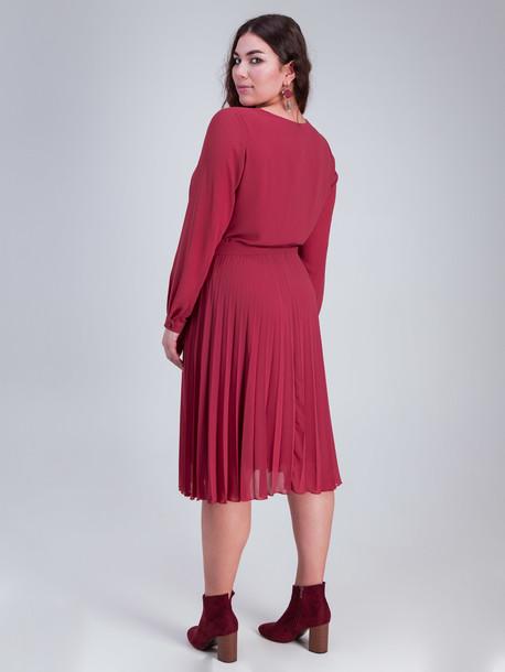 Мэрибель платье TRAND красная терракота