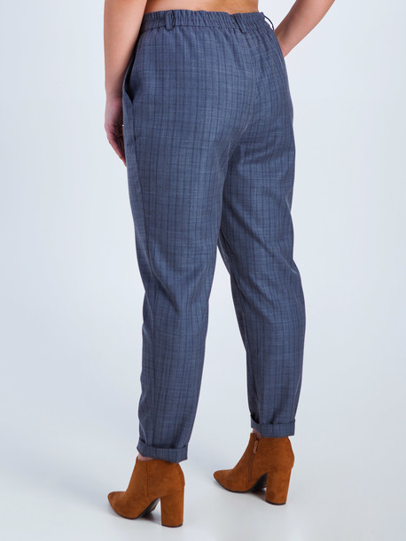 Джорди клетка брюки Trand сине-серый