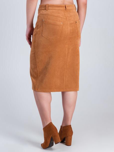 Ларго TRAND юбка горчица