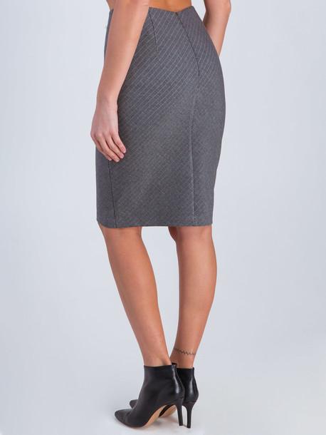 Элида юбка серый