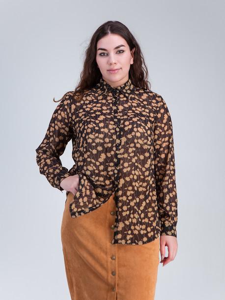 Сюзан TRAND блуза бежевые цветы
