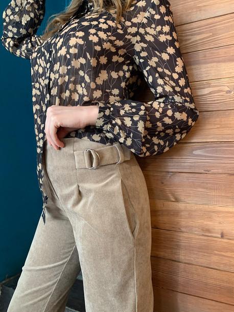 Аэлла GRAND блуза бежевые цветы