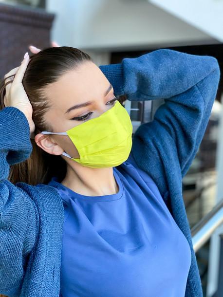 Strong маска защитная тканевая многоразовая лимонный