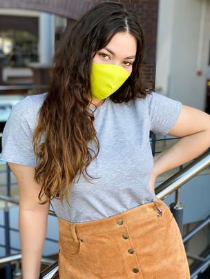 Calm маска  защитная тканевая многоразовая лимонный