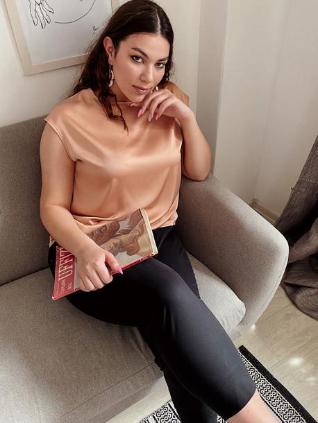 Ясмина TRAND блуза бронзовый