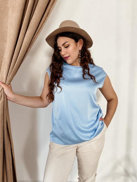 Ясмина TRAND блуза голубой лед