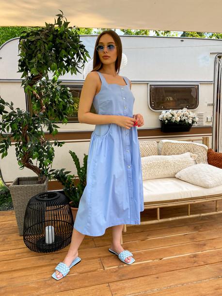 Грета Grand сарафан голубой