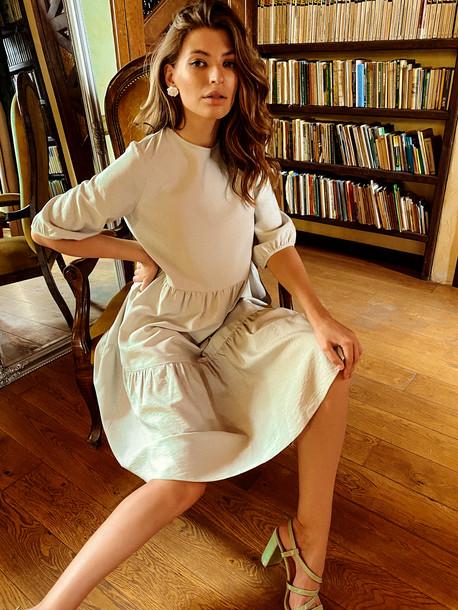 Жанин Grand платье оливковый