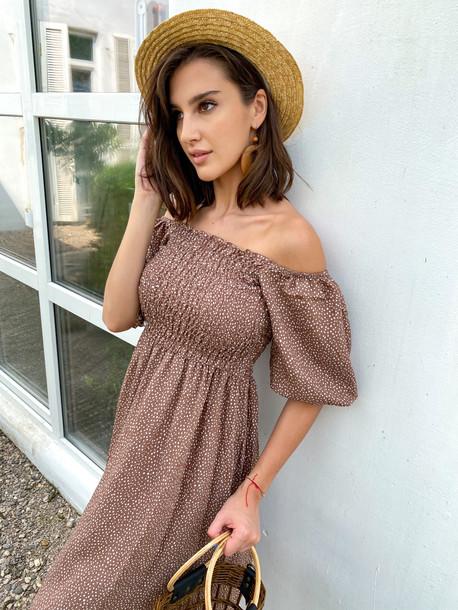 Авия платье коричневый