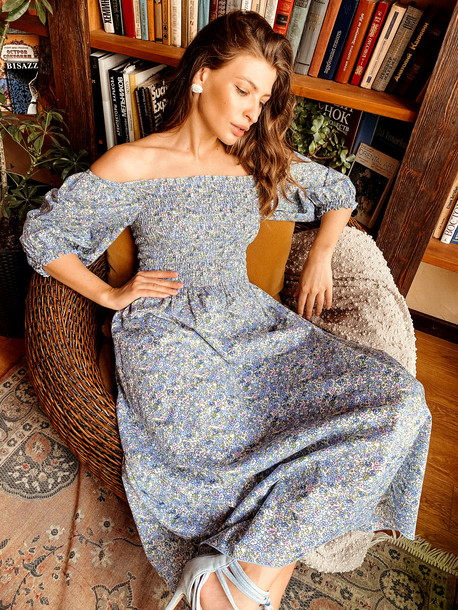 Авия платье нежно-голубой