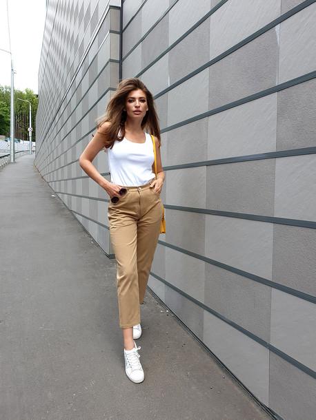 Беатрис джинсы бежевый
