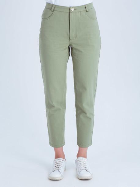 Беатрис джинсы оливковый
