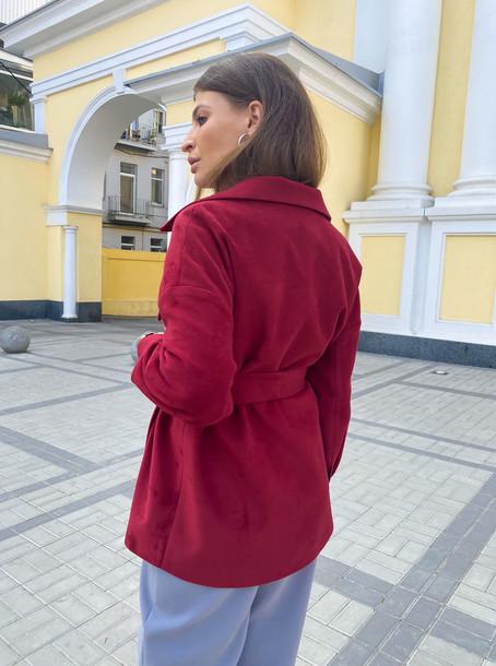 Крис пальто-рубашка винный