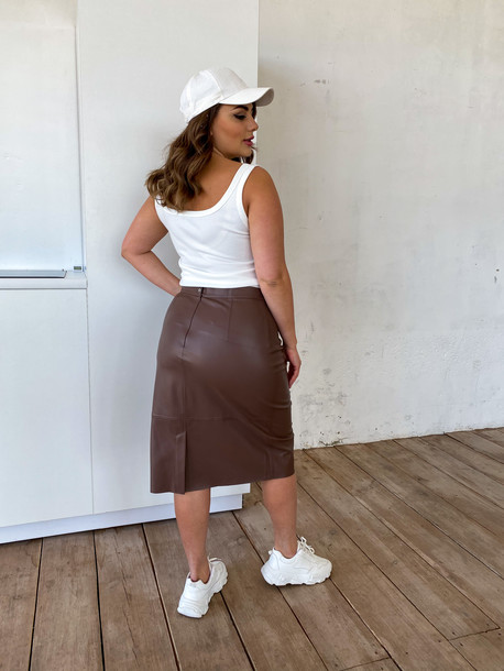 Гвенет TRAND юбка шоколад