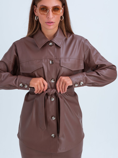 Аврил рубашка шоколад