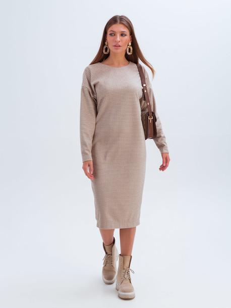 Мари платье бежевый