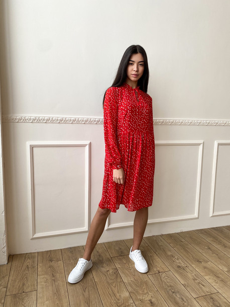 Эвелин платье красный