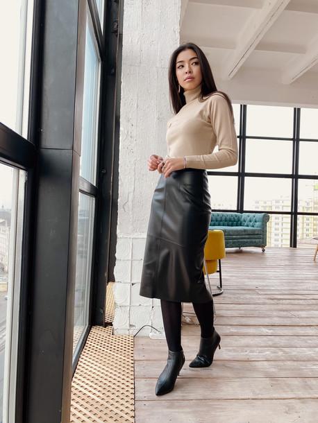 Ладья удлиненная юбка черный