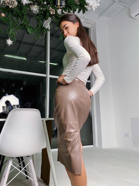 Ладья удлиненная юбка капучино