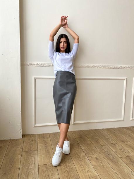 Ладья удлиненная юбка серый