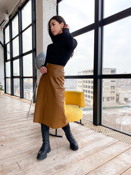 Клер юбка корица